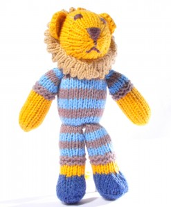 Organic Island Toddler Lion - Blue Striped Top