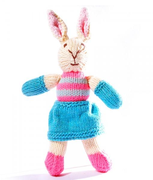 Toddler Rabbit in Blue Swimsuit