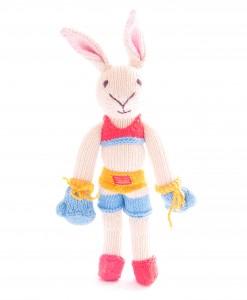 Organic Island in Kickboxer Rabbit - Red Blue ตุ๊กตากระต่ายต่อยมวย ชุดแดง-ฟ้า