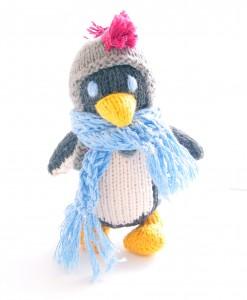 Organic Island Toddler Penguin - Blue Scarf  ตุ๊กตาแพนกวิน ผ้าพันคอสีฟ้า