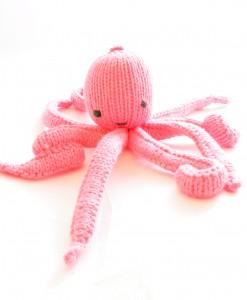 Organic Island Toddler Cuttlefish-Pink  ตุ๊กตาปลาหมึก สีชมพู